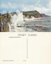 1970's ROUGH SEAS AT SIDMOUTH DEVON UNUSED COLOUR POSTCARD