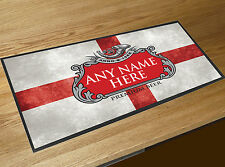 Personalised St Georges England Football Flag beer label bar runner Beer mat Pub