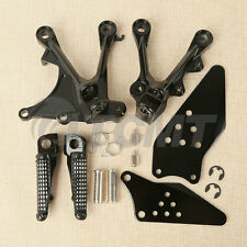New Black Front Footrest Foot Pegs Set For KAWASAKI NINJA ZX6R 05-08 ZX636 05-06