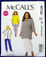 Plus-Size McCalls Ruffle Tunic Top Pants Skirt Sewing Pattern 18,20,22,24 7134