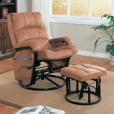 Coaster 650005 Recliners with Ottomans Glider Recliner with Matching Ottoman