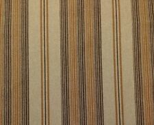 "REGAL DURIAN STRIPE FUDGE BROWN BRASS JACQUARD WOVEN FABRIC BY THE YARD 54""W"