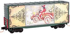 Micro-Trains MTL N-Scale 40ft Box Car Christmas Postcards 2014 Santa's Car