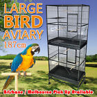 1 x New Extra Large Stand-Alone 2 Level Parrot Aviary Canary Bird Cage on Wheels