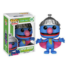"SESAME STREET SUPER GROVER 3.75"" VINYL FIGURE POP NEW FUNKO"