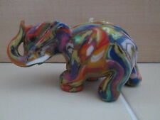 Awesome Elephant Abstract Hippie Multi-Color Wax Art Candle Unique