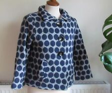BODEN Navy & Grey Spotty Wool Lined Jacket Size 10