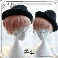 Japanese Vintage Harajuku Gothic Lolita Pink Short Men Cosplay Curly Daily Wig