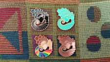 Set of 4 Official Light Child Project EDM Molecule Sacred Geometry Goddess Pin