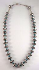 Navajo Handmade Coin Silver, Mercury Dimes Necklace - James McCabe