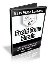 Learn How To Make A Profit On Zazzle- Videos on 1 CD