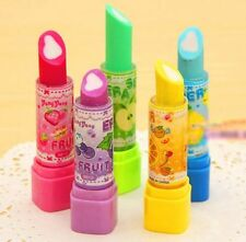 FD3860 Lipstick Style Eraser Rubber Pencil Stationery Children Child Gift 1pc