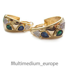 Pierre Lang Creolen Ohrringe Ohrstecker creoles hoop vergoldet earrings gilt