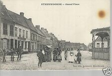 Steenwoorde Grand'Place  animated Old Unposted Postcard