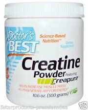 Doctor's Best Creatine Powder Featuring Creapure Non-GMO Vegan 10.6 oz (300 g)