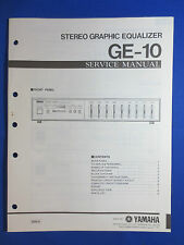YAMAHA GE-10 GRAPHIC EQUALIZER SERVICE MANUAL ORIGINAL FACTORY ISSUE