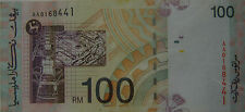 RM100 Ahmad Don side sign First Prefix AA 0168441 (with holes)