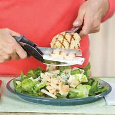 Clever Cutter 2 in 1 Kitchen Knife & Cutting Board Scissors Stainless Steel
