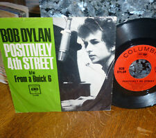 """* * RARE BOB DYLAN PICTURE SLEEVE! SNARKY """"POSITIVELY 4th STREET"""" VG/VG+ 45/PS!!"""