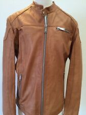 Motorcycle leather Jackets for men in black/grey/taupe/tan-all handmade in Italy