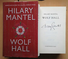 HILARY MANTEL, WOLF HALL HB 1/8 BOOKER PRICE WINNER 2009 Autographed SIGNED