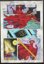 ROBIN ANNUAL #1 PAGE 25 ANARKY ULTIMATUM COLOR COMIC PRODUCTION ART SIGNED w/COA