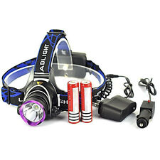 Rechargeable 5000LM XM-L T6 LED Headlamp Head Light w/ 2x 18650 Battery+Charger