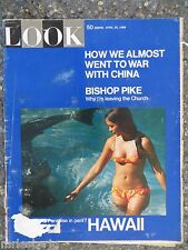 1969 Look Magazine April 29  Hawaii  VINTAGE ADS  Bishop Pike  War With China?