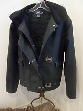 RALPH LAUREN POLO MENS DENIM MILITARY NAUTICAL CLIP INSULATED JEAN JACKET COAT M