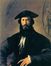Oil painting parmigianino - portrait of a bearded man free shipping for buyers