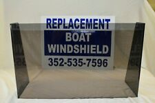 Large Custom boat windshield, TINTED, made with 1/4 premium plexiglass