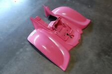 YAMAHA WARRIOR 350 PINK CUSTOM PLASTIC REAR FENDER PLASTICS 89 - 04