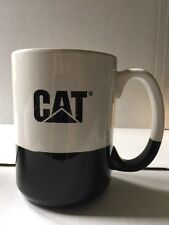 Catapillar Machinery Advertising Mug Black White Large