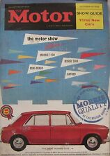 Motor magazine 10/10/1962 featuring Lotus Elan, Jensen CV-8, Daimler cutaway