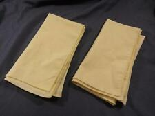Lot Of 2 Vintage Sheer Linen Handkerchiefs Yellow Estate Shabby Chic