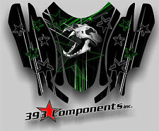 Arctic Cat Firecat Sabercat F5 F6 F7 2003-2006 Graphics Decal Skull Hood Green