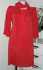 Ester Elenora Kleid dress Lena new Long Korall Hummer Seide Cupro red rot M L XL