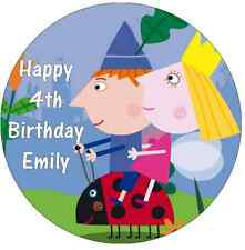 Ben And Holly's Little Kingdom Personalised Wafer Paper Topper For Large Cake