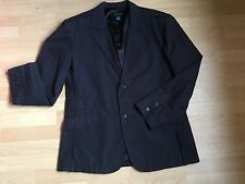 Men's Navy 'Calvin Klein Jeans' Fine Striped Lined Jacket XL