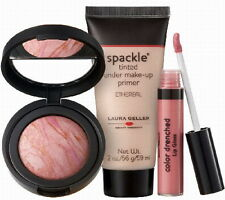 Laura Geller soiree a 3 piece collection gloss makeup primer and blush