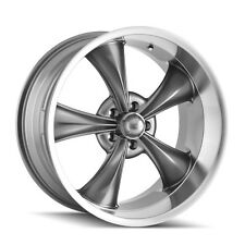 "CPP Ridler style 695 Wheels, 17x7 front + 17x8 rear, 5x4.75"", GRAY & MACHINED"