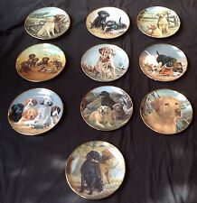LOT Collection (10) Franklin Mint DOG LOVERS Ltd Edition Numbered Plates