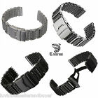 TAURUS PREMIUM SHARK MESH SS DIVERS WATCH STRAP BAND 20mm 22mm 24mm FOR SEIKO