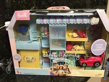 Last One - BARBIE DOLL HAPPY FAMILY NEIGHBORHOOD SHOPPING FUN PLAYSET