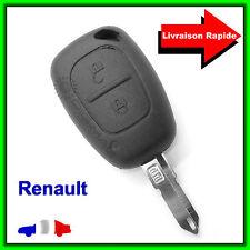 Coque Télécommande Plip Clé Renault Trafic Kangoo Master Vivaro + Lame vierge