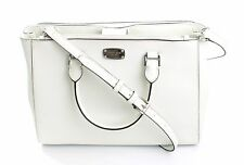 BNWT Michael Kors Kellen Leather Shoulder Bag RRP £345.00 Optic White
