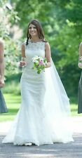 Justin Alexander Lace Wedding Dress (style Number 8530) Size 8