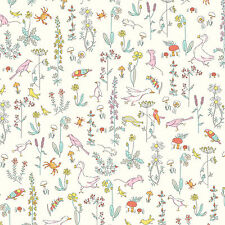 Liberty ~ Theo A White Tana Lawn Fabric / quilting dressmaking nursery floral