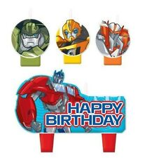 New Transformers (4pc) Birthday Candle Set Kids Birthday Party Supplies~