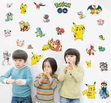 Removable Pokemon Go Pikachu Character Wall Sticker Decals Kids Room Decor Mural